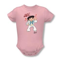 Elvis - Lil' E Infant T-Shirt In Pink