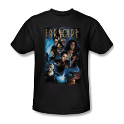 Farscape - Comic Cover Adult T-Shirt In Black