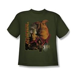 Farscape - Rygel Big Boys T-Shirt In Military Green