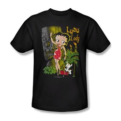 Betty Boop - Luau Lady Adult T-Shirt In Black