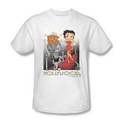 Betty Boop - Hollywood Adult T-Shirt In White
