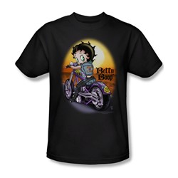 Betty Boop - Wild Biker Adult T-Shirt In Black
