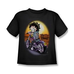 Betty Boop - Wild Biker Little Boys T-Shirt In Black