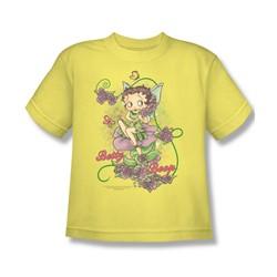 Betty Boop - Flower Vine Fairy Big Boys T-Shirt In Banana