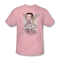 Betty Boop - Grandma Guardian Angel Adult T-Shirt In Pink