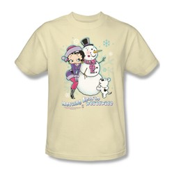Betty Boop - Melting Hearts Adult T-Shirt In Cream