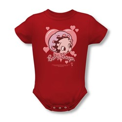 Betty Boop - Baby Heart Infant T-Shirt In Red