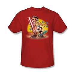 Betty Boop - Boop Surf Adult T-Shirt In Red