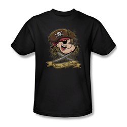 Popeye - Shiver Me Timber's Adult T-Shirt In Black