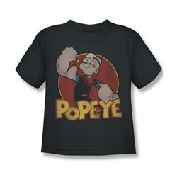 Popeye - Retro Ring Little Boys T-Shirt In Charcoal