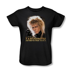 The Labyrinth - Jareth Womens T-Shirt In Black