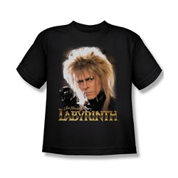 The Labyrinth - Jareth Big Boys T-Shirt In Black