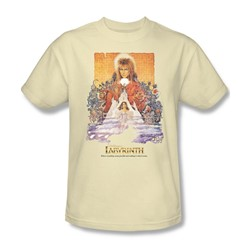 The Labyrinth - Movie Poster Adult T-Shirt In Cream
