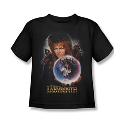 The Labyrinth - I Have A Gift Little Boys T-Shirt In Black