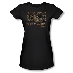 The Labyrinth - Say Your Right Words Juniors T-Shirt In Black