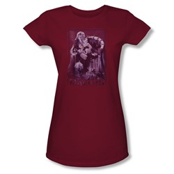 The Labyrinth - Goblin Baby Juniors T-Shirt In Cardinal