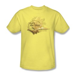 The Labyrinth - She Bites Adult T-Shirt In Banana