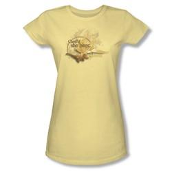 The Labyrinth - She Bites Juniors T-Shirt In Banana