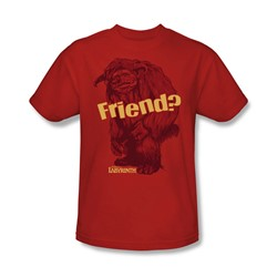 The Labyrinth - Ludo Friend Adult T-Shirt In Red