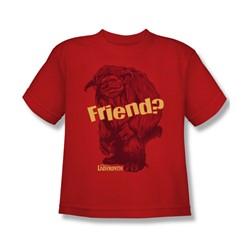 The Labyrinth - Ludo Friend Big Boys T-Shirt In Red