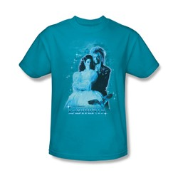 The Labyrinth - Peach Dreams Adult T-Shirt In Turquoise