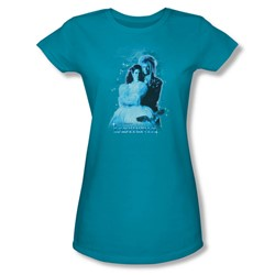The Labyrinth - Peach Dreams Juniors T-Shirt In Turquoise