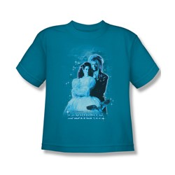 The Labyrinth - Peach Dreams Big Boys T-Shirt In Turquoise