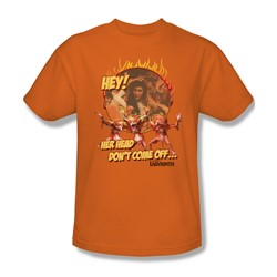 The Labyrinth - Head Don't Come Off Adult T-Shirt In Orange