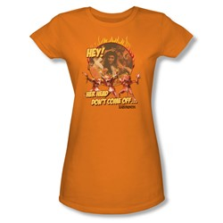 The Labyrinth - Head Don't Come Off Juniors T-Shirt In Orange
