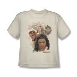 The Labyrinth - Turn Back Sarah Big Boys T-Shirt In Cream