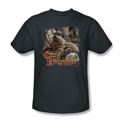 The Labyrinth - Sir Didymus Adult T-Shirt In Charcoal