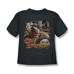 The Labyrinth - Sir Didymus Little Boys T-Shirt In Charcoal