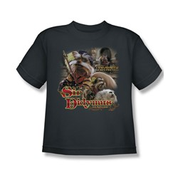 The Labyrinth - Sir Didymus Big Boys T-Shirt In Charcoal