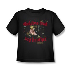 The Labyrinth - Goblins Took My Brother Little Boys T-Shirt In Black