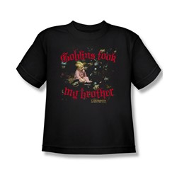 The Labyrinth - Goblins Took My Brother Big Boys T-Shirt In Black