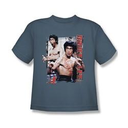 Bruce Lee - Enter Big Boys T-Shirt In Slate