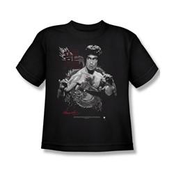 Bruce Lee - The Dragon Big Boys T-Shirt In Black