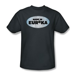 Nbc - Made In Eureka Adult T-Shirt In Charcoal