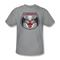 Nbc - Airwolf Patch Adult T-Shirt In Silver