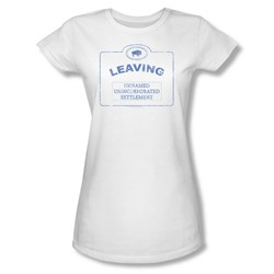 Nbc - Now Leaving Univille Juniors T-Shirt In White