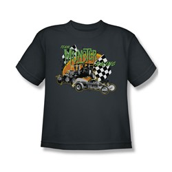 Nbc - Team Munster Racing Big Boys T-Shirt In Charcoal