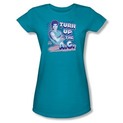 Nbc - Turn Up The A.C. Juniors T-Shirt In Turquoise