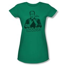 Nbc - Oh Goody! Juniors T-Shirt In Kelly Green