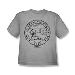 Nbc - Pawnee Seal Big Boys T-Shirt In Heather