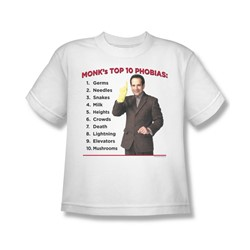 Nbc - Top 10 Phobias Big Boys T-Shirt In White