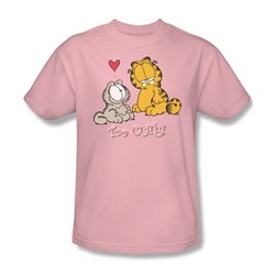 Garfield - Too Cute Adult T-Shirt In Pink