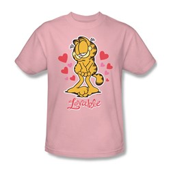 Garfield - Lovable Adult T-Shirt In Pink