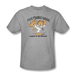 Garfield - Foot Fungus Karate Adult T-Shirt In Heather