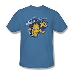 Garfield - Master Of Disaster Adult T-Shirt In Carolina Blue