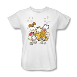 Garfield - Friends Are Best Womens T-Shirt In White